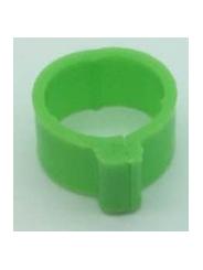 маркировочное кольцо (метка) для птицы . Диаметр 1,8см. Цвет зеленый