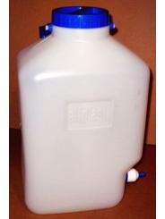Емкость для воды - бидон на 10 литров с одним штуцером под шланг диаметром 8мм