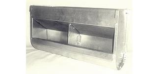 Кормушка для кролика двух-секционная, без крышки, шириной 45см, объем 6,4 литра.