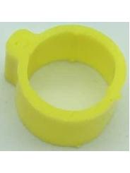 маркировочное кольцо (метка) для птицы . Диаметр 1,8см. Цвет желтый