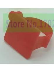 Меточное кольцо для птицы. Диаметр 2см. Цвет - красный.