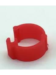 Меточное кольцо для птиц. Диаметр 9мм. Цвет красный.